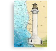 Pt Arena Lighthouse CA Nautical Chart Cathy Peek Canvas Print