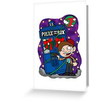 Lunar Holiday with the 11th Doctor Greeting Card