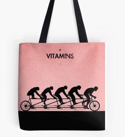 99 Steps of Progress - Vitamins Tote Bag