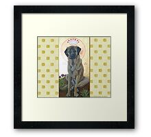 Anatolian Shepherd Dog done as an icon -- Mesa Verde Framed Print