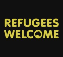 Refugees Welcome Australia (Yellow) One Piece - Long Sleeve