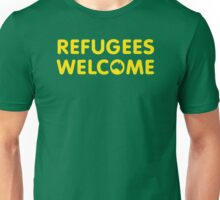 Refugees Welcome Australia (Yellow) Unisex T-Shirt