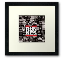 RUN NES Framed Print