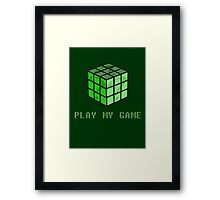 Play My Game Framed Print