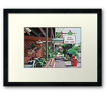 Cactus Cafe Framed Print