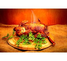 Roasted Chicken Photographic Print