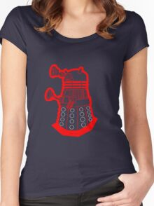 Red is dead! EXTERMINATE!!! Women's Fitted Scoop T-Shirt