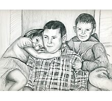 Commission portrait from old family photograph Photographic Print