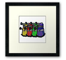 Beware the Daleks! Framed Print