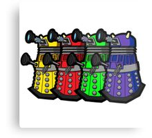 Beware the Daleks! Metal Print