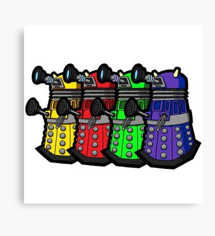 Beware the Daleks! Canvas Print