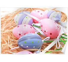 Easter Colourful Eggs Poster