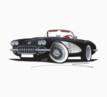 Chevrolet Corvette (58-62) Black Kids Tee