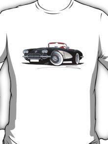 Chevrolet Corvette (58-62) Black T-Shirt