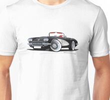 Chevrolet Corvette (58-62) Black Unisex T-Shirt
