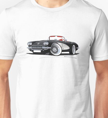 Chevrolet Corvette (58-62) Black Unisex T-Shirt