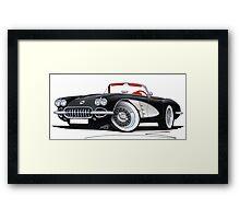 Chevrolet Corvette (58-62) Black Framed Print