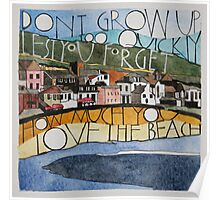 Sketch of Lyme Bay Poster