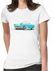 Ford Thunderbird Turquoise Womens Fitted T-Shirt