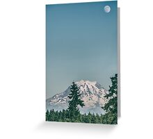 Moon Over Rainer Greeting Card