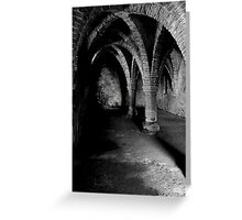 Gothic arches Blakeney Norfolk. Greeting Card