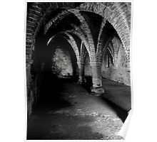 Gothic arches Blakeney Norfolk. Poster