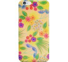 WILDFLOWER FANCY 1 - Cheerful Yellow Lovely Floral Garden Pattern Girly Feminine Trendy Flowers iPhone Case/Skin