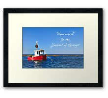 Toy boat for the Holidays Framed Print
