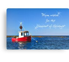 Toy boat for the Holidays Canvas Print