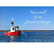 Toy boat for the Holidays Photographic Print