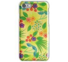 WILDFLOWER FANCY 3 - Cheerful Fresh Green Lovely Floral Garden Pattern Girly Feminine Trendy Flowers iPhone Case/Skin