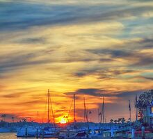 Newport California Sunset by Jason Butts