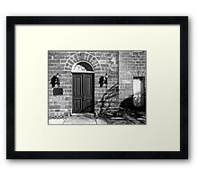 Door on the Right Framed Print