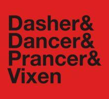 Dasher&Dancer&Prancer&Vixen (Light) Kids Clothes