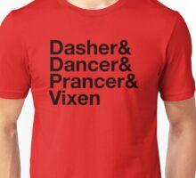 Dasher&Dancer&Prancer&Vixen (Light) Unisex T-Shirt