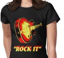 rock t-shirt Womens Fitted T-Shirt