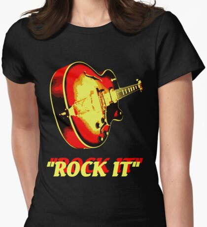 rock t-shirt Womens Fitted T-Shirt