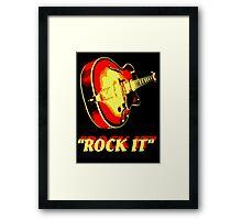 rock t-shirt Framed Print