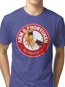 Arm & Shoryuken. The Standard of K.O. - Ryu Tri-blend T-Shirt