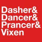 Dasher&Dancer&Prancer&Vixen (Dark) by Daniel Rubinstein