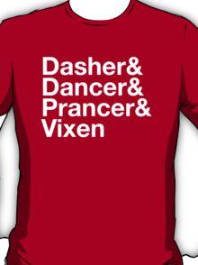 Dasher&Dancer&Prancer&Vixen (Dark) T-Shirt