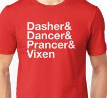 Dasher&Dancer&Prancer&Vixen (Dark) Unisex T-Shirt