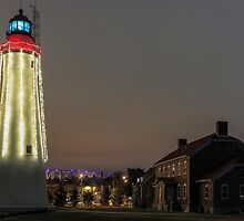 Christmas at Fort Gratiot Lighthosue by Daniel Frei