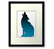 ombre wolf Framed Print