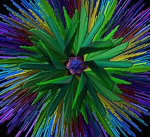Colorful Spikey Ball by swaby