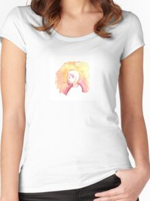 Watercolours Women's Fitted Scoop T-Shirt