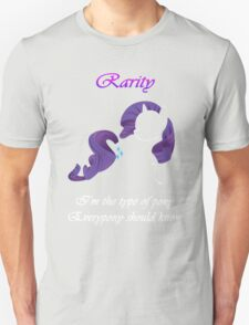 Everypony should know Rarity T-Shirt