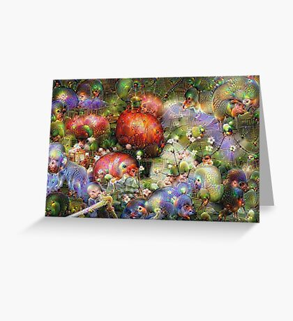 Multicolored Floral Machine Dreams #1 Greeting Card