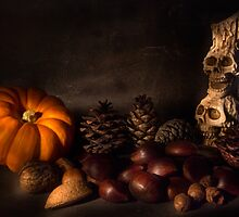 Halloween Still Life - 2 by Ann Garrett