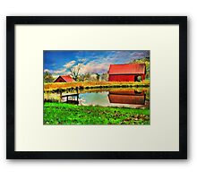 The Swimming Hole Framed Print